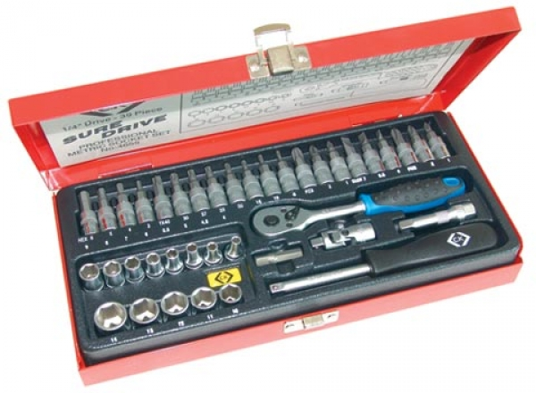 C.K. Socket set - 39 Piece 1/4