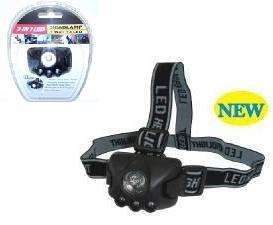 Techmaster LED HEADLAMP - 1 WATT LED + 3 WHITE LED