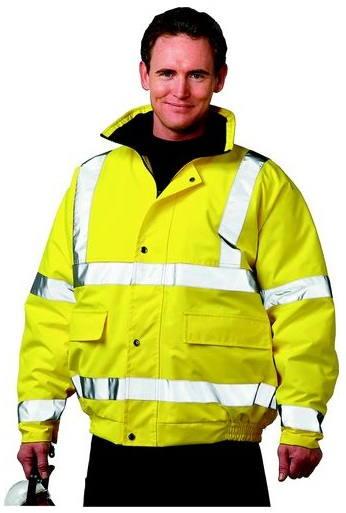 Christensen HI-VIZ CL3 BOMBER JACKET(EN471) YELLOW