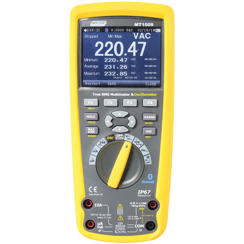 Major Tech Industrial Multimeter and Oscilloscope